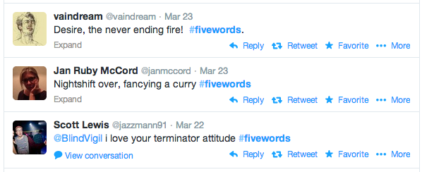 fivewords-hashtag