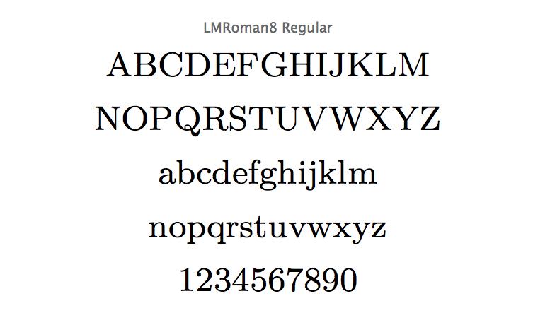 LMRoman8-regular-specimen