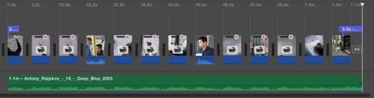 the iMovie timeline