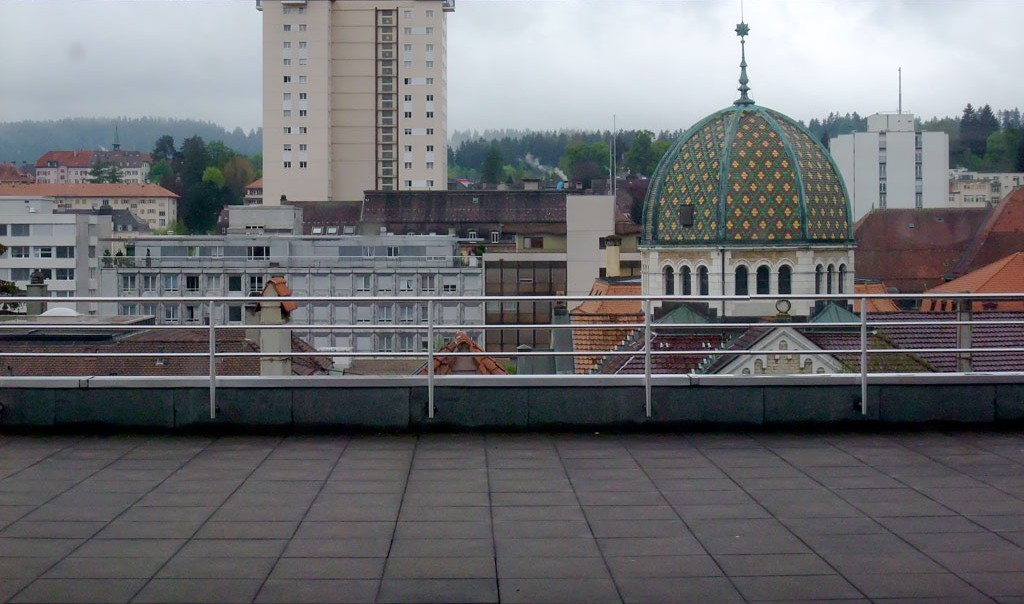 La Chaux-de-Fonds, view from the roof of EAA.